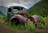 Old Car in Mountains in San Juan Mountains, Colorado