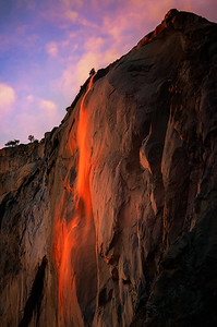 Horsetail Falls on Fire