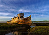 The Old Point Reyes Abandoned Fishing Boat at Inverness, CA
