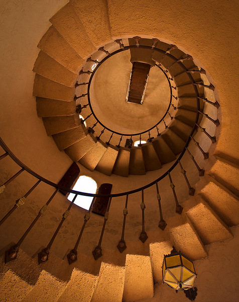 Staircase at Scotty's Castle
