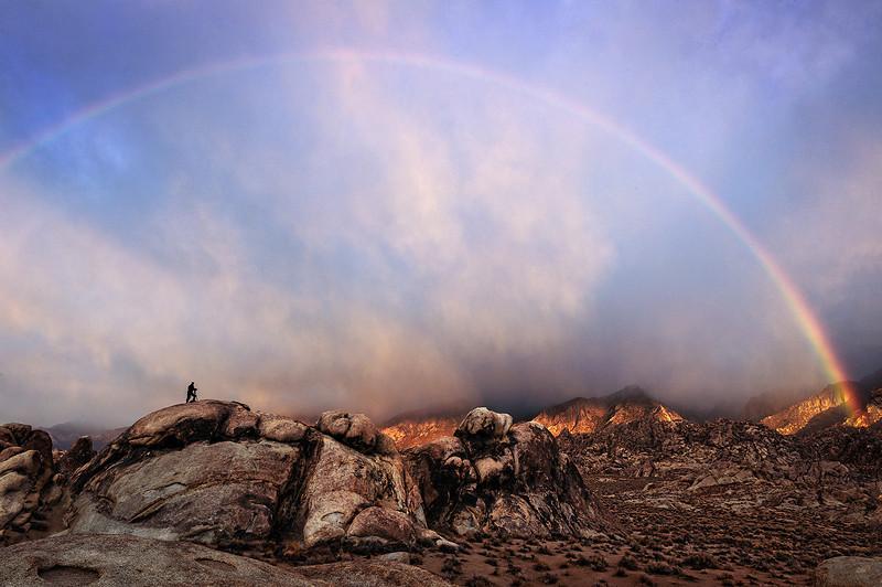 Rainbow at Alabama Hills