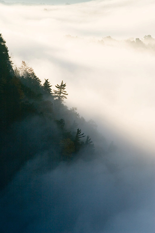 Morning Fog at Great Bend<br /> Letchworth State Park, NY