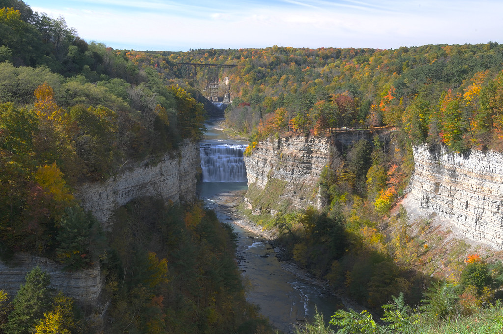 Inspiration Point in Letchworth State Park