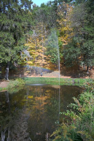 Fountain near Glen Iria Inn in Letchworth State Park