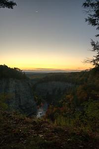 Sunrise over Letchworth gorge