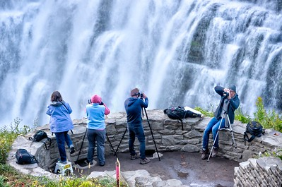 Photographers shooting Letchworth Middle Falls