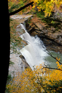 Lower Falls  from east rim trail  in Letchworth gorge