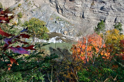 Unnamed waterfall from east rim trail  in Letchworth gorge