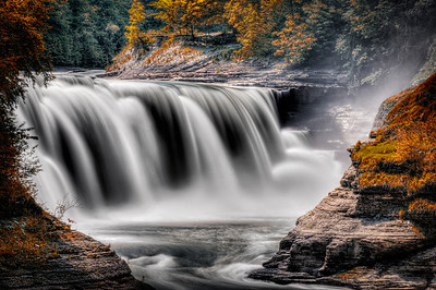 Lower Falls - Letchworth State Park.   HDR