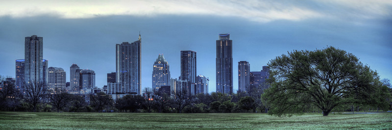 Zilker Park Panorama Of Austin