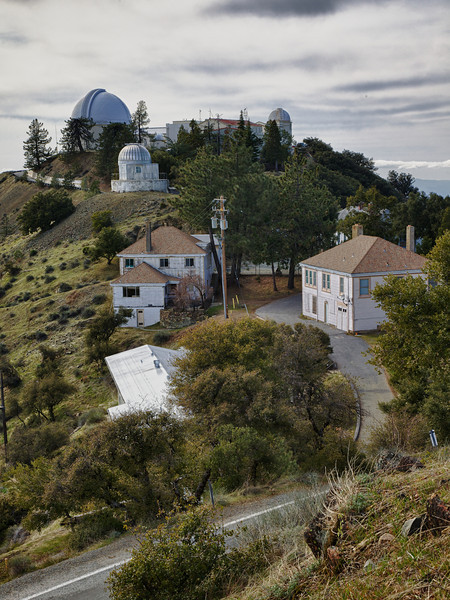 View of James Lick Telescope/Observatory and other lesser telescopes, visitor center, and residences.  Taken on walk to 120 inch reflector.  Not any razy HDR here, just some levels/polarization.
