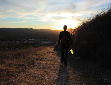 Hiker in Thouand Oaks Open Space Preserve