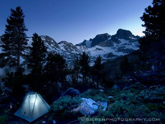 Solo Backpacker<br /> Ansel Adams Wilderness - Eastern Sierra Nevada Mountain Range, California