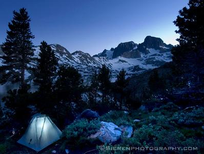Solo Backpacker Ansel Adams Wilderness - Eastern Sierra Nevada Mountain Range, California