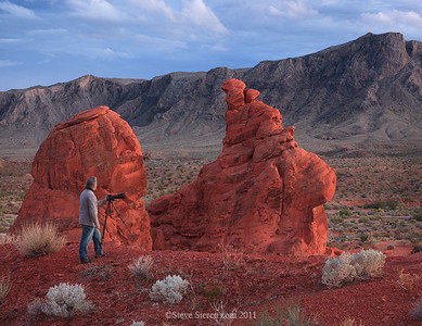 Phtoographer in Valley of Fire State Park, Nevada