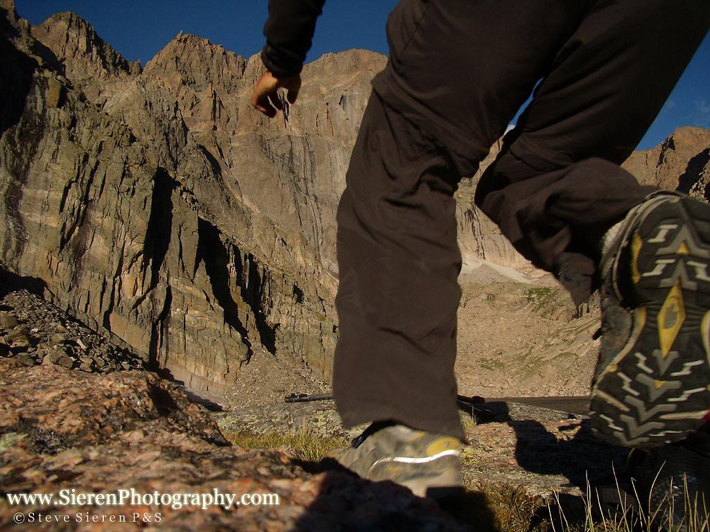 Trail running Long's Peak Colorado