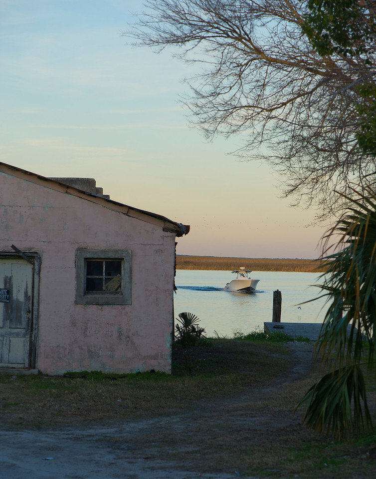 Apalatchicola, FL, end of a day on the water