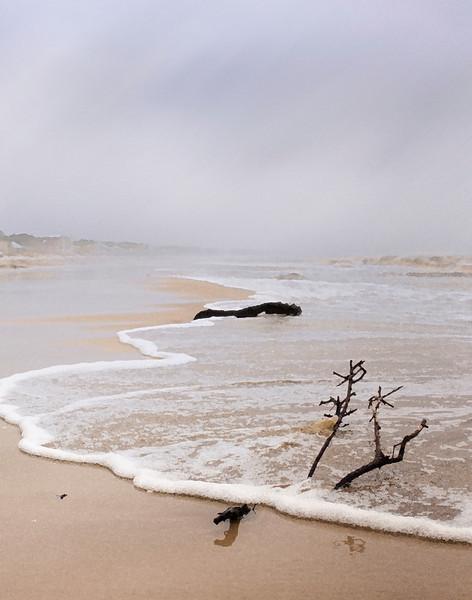 Strong spring storm rakes the beach near Cape San Blas, Florida
