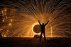 Burning Steel Wool