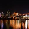 Downtown Cincinnati and the Suspension bridge