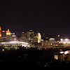 Downtown Cincinnati, GABP, and Paul Brown Stadium.