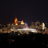 Downtown Cincinnati and Paul Brown Stadium.