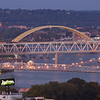 The Ohio River and bridges
