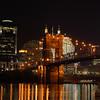 The Suspension Bridge, downtown Cincinnati, OH.