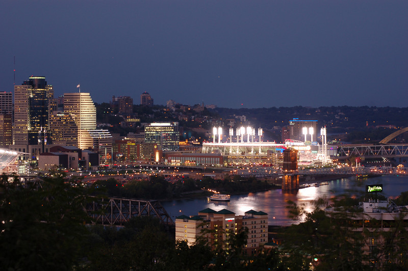Downtown Cincinnati and Great American Ball Park
