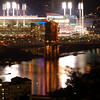 Great American Ball Park and the Suspension Bridge
