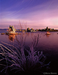 Mono Lake - This was one of my first night shots.  The camera was left there all night.  Thanks to short summer nights I didn't get much sleep.  Olympus OM2 35mm Velvia 1999
