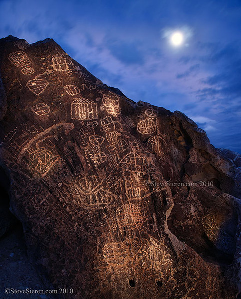 Petroglyphs in the Dusk Sky<br /> Owens Valley / Eastern Sierra<br /> Light Painted<br /> <br /> You can blast any subject with light but if not done artistically, it may rob the mood and emotion right of the scene.