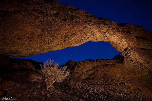 A Lantern's Glow<br /> <br /> Magma Arch - Mojave Desert (location unknown)<br /> <br /> Light Painted