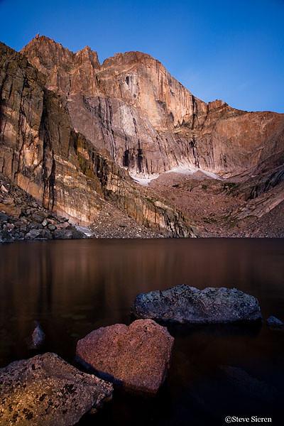 Light Paint<br /> Longs Peak - Colorado<br /> Lake elevation: 11,760 feet<br /> 15 seconds