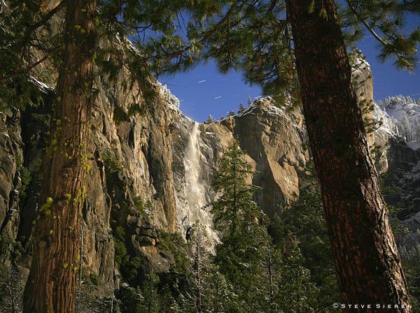 Moonlit Bridal Veil Falls 2 - Yosemite