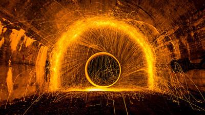 "2012 Project Imaginat10n Winner, ""Spinning Fire"".  Details at: https://www.longliveimagination.com/"