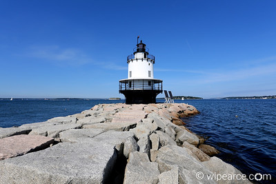 Spring Point Ledge Lighthouse.  Portland Harbor, ME