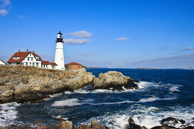 Portland Head Light Built in 1791 Located in Cape Elizabeth, Maine #2186