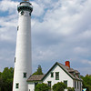 The New Presque Isle Light was built in 1870, at Presque Isle, Michigan