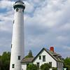 The New Presque Isle Light was built in 1870, at Presque Isle, Michigan
