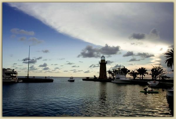 Boca Chita Key Basin at sunset...............Biscayne Bay, Florida
