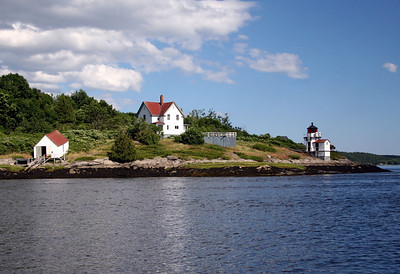 Squirrel Point Light Built in 1898  Located on the Kennebec River, Arrowsic Island, Maine