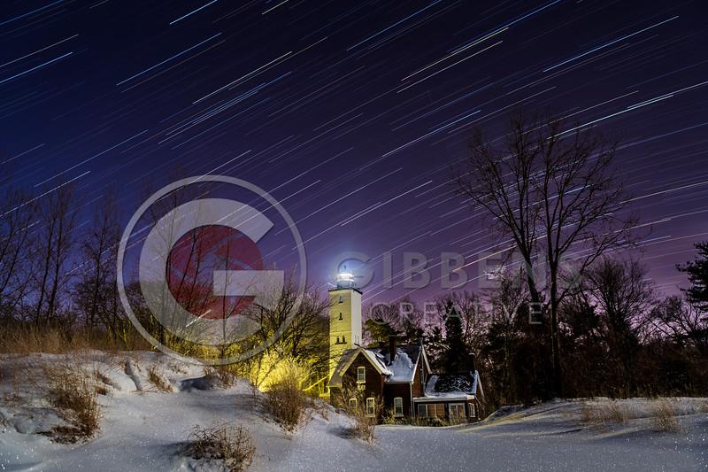 Presque Isle Lighthouse Star Trails