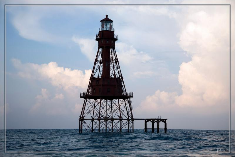 Summer Morning at American Shoal Lighthouse:<br /> Located on American Shoal, 6.5 miles south of Sugarloaf Key,<br /> Latitude: 24.525<br /> Longitude:-81.52