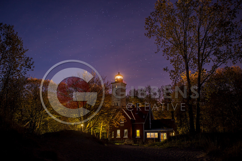Presque Isle Lighthouse at Night May 2013