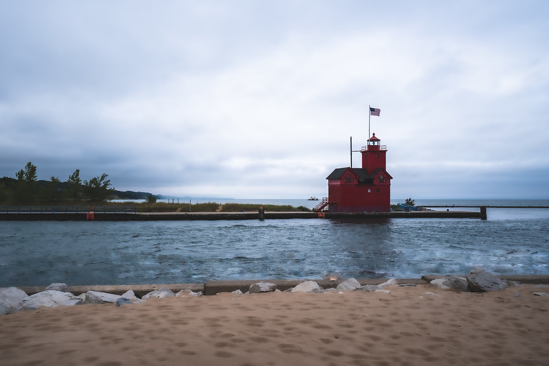 "Holland Harbor Light ""Big Red"" in Holland Michigan"