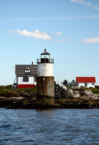 Ram Island Light Built in 1883 Located at Fishers Passage in Boothbay Harbor, Maine