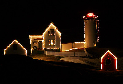 Christmas at Nubble light Cape Neddick (Nubble Light) Built in 1879 Located in York, Maine