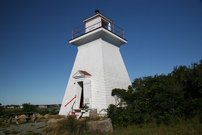 Abbotts Harbor Light Built in 1922 Located in West Pubnico, Nova Scotia, Canada