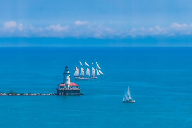 Chicago Harbor Lighthouse in Chicago Illinois
